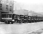 Click here to enlarge image and see more about item PR0318A2-2007: c.1925 U.S. POSTAL TRUCK FLEET Historic Photo - 8 x 10