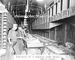 Click here to enlarge image and see more about item PR0318A3-2007: c.1920 U.S. POSTAL WORKERS in MAIL TRAIN Photo - 8 x 10