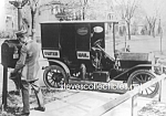 Click here to enlarge image and see more about item PR0318A4-2007: c.1920 U.S. POSTAL WORKER and VEHICLE Photo - 5 x 7