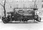 c.1921 U.S. POSTAL MOBILE Post Office SANTA CLAUS Photo