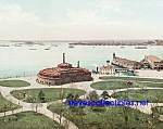 c.1900 BATTERY PARK Upper Bay New York Photo - 8x10