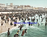 c.1902 BEACH AT ATLANTIC CITY New Jersey Photo - 8x10