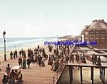 c.1900 BOARD WALK AT ATLANTIC CITY New Jersey Photo