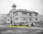 Click here to enlarge image and see more about item PR0504A8-2007: 1906 SKAGWAY, ALASKA Public School - Photo - 8 x 10