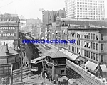 c.1907 CHICAGO, ILLINOIS Wabash Avenue RR Photo-8x10