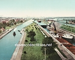 c.1905 The Locks Saulte Ste Marie Michigan Photo-8 x 10