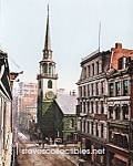 c.1900 BOSTON MASS. Old South Church Photo - 8 x 10