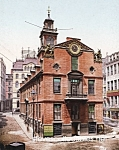 c.1900 BOSTON MASS. Old State House Photo - 8 x 10