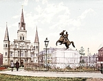 c.1900 NEW ORLEANS, Jackson Square and Cathedral Photo