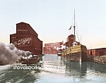 c.1900 CHICAGO RIVER ELEVATORS Schlitz Beer Photo-8x10