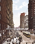 c.1900 CHICAGO, ILLINOIS State Street North Photo-8x10