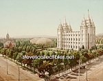 c.1900 SALT LAKE CITY, Utah Temple Square Photo - 8x10