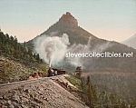 Click here to enlarge image and see more about item PR0508B5-2007: c.1900 ST. PETERS DOME, Colorado Train Photo - 8 x 10