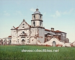 Click here to enlarge image and see more about item PR0508B9-2007: c.1900 CALIFORNIA, Mission San Luis Rey Photo - 8 x 10