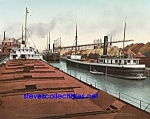 c.1900 CLEVELAND, OHIO Harbor Unloading Ore -Photo-8x10