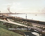 c.1901 CLEVELAND, OHIO Harbor from Lake View Park Photo