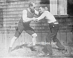 c.1910 J JEFFRIES and FARMER BURNES Wrestling - Photo