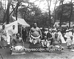 Click here to enlarge image and see more about item PR0519A6-2007: c.1905 THREE CHAMPION SUMO WRESTLERS Wrestling - Photo