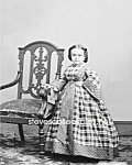 Click here to enlarge image and see more about item PR0519B3-2007: c.1860 Miss Lavinia Warren Midget-SideShow-Circus-Photo