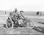 Click here to enlarge image and see more about item PR0520A2-2007: c.1915 MOTORCYCLE MACHINE GUNNER Photo - 8x10