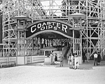 Click here to enlarge image and see more about item PR0527A7-2007: c.1920 COASTER DIPS - Glen Echo, Maryland Photo-8 x 10