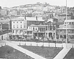 Click here to enlarge image and see more about item PR0602A3-2007: c.1855 SAN FRANCISCO, CAL. S W corner of Plaza Photo