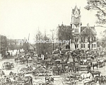 c.1860 WASHINGTON, GEORGIA Market Square Photo - 8 x 10