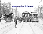c.1907 NEW ORLEANS, LA Canal Street Cars Photo