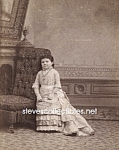 c.1875 FEMALE Midget Side Show - Circus Photo