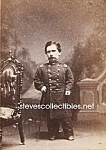 c.1875 MIDGET IN UNIFORM Side Show - Circus Photo