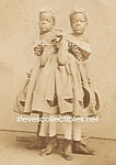 c.1865 SIAMESE TWINS Side Show - Circus Photo C