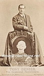 c.1870 TONY DENIER PANTOMIMIST Side Show - Circus Photo