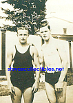 c.1920s Hot MALE SWIMMERS Outdoors - Gay Int.