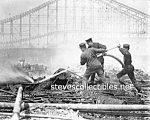 Click here to enlarge image and see more about item PR0821A5-2007: c.1911 Coney Island, N.Y. DREAMLAND FIRE PHOTO - 8x10