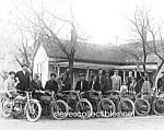 Click here to enlarge image and see more about item PR0824A1-2007: c.1914 HARLEY DAVIDSON MOTORCYCLE CLUB  Photo - 8x10