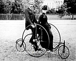 Click here to enlarge image and see more about item PR0825B2-2007: c.1886 QUADRACYCLE (Velocipede) Photo-8 x 10