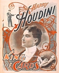 Click here to enlarge image and see more about item PR0828A1-2006: 1895 HOUDINI - King of Cards - MAGIC Print - 8 x 10