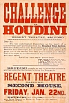 Click here to enlarge image and see more about item PR0828A2-2006: 1904 HOUDINI - Challenge MAGIC Poster Print - 8 x 10