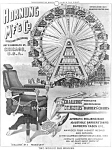 Click here to enlarge image and see more about item PR0829A3-2006: c.1895 WORLDS FAIR Ferris Wheel BARBER CHAIR Adv. Print