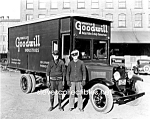 Click here to enlarge image and see more about item PR0831A1-2007: Early Springfield GOODWILL TRUCK PHOTO - 8 x 10