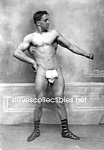 c.1914 MUSCULAR GUY w/FIGLEAF Nude Bodybuilding Photo