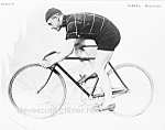 Click here to enlarge image and see more about item PR0902A3-2007: c.1914 NORMAN ANDERSON on Racing Bicycle Photo - 8 x 10