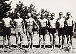 c.1920 SHIRTLESS MALE Ball Team - GAY INTEREST