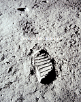 1969 BUZ ALDRIN BOOTPRINT on Moon -Apollo 11 Photo-8x10