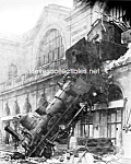 Click here to enlarge image and see more about item PR1021A1-2007: 1895 TRAIN WRECK at Montparnasse Station Paris Photo