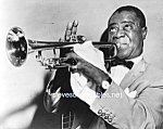 Click here to enlarge image and see more about item PR1021A2B-2007: 1953 LOUIS ARMSTRONG Playing Trumpet Photo-8x10