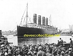 Click here to enlarge image and see more about item PR1102B6-2007: 1907 LUSITANIA in NYC with Crowds PHOTO - 8x10