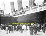 Click here to enlarge image and see more about item PR1102B8-2007: 1907 LUSITANIA arriving NYC - Starboard PHOTO - 8x10