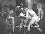 Click here to enlarge image and see more about item PR1104A2-2008: c.1900 NUDE MALE BOXING Boxers Photo - matted
