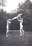 c.1922 NUDE Male GYMNASTS Photo - GAY INTEREST